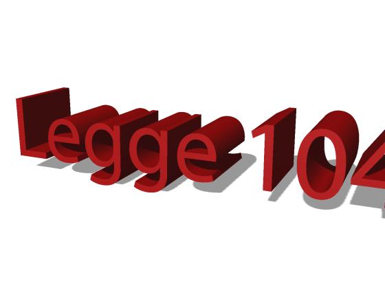 """L'immagine mostra la scritta """"Legge 104"""""""