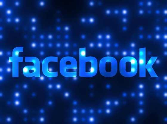 La foto mostra il logo di Facebook