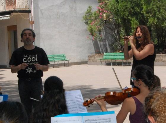 La foto mostra il Maestro Monica Tenev e il Maestro Luigi Mariani