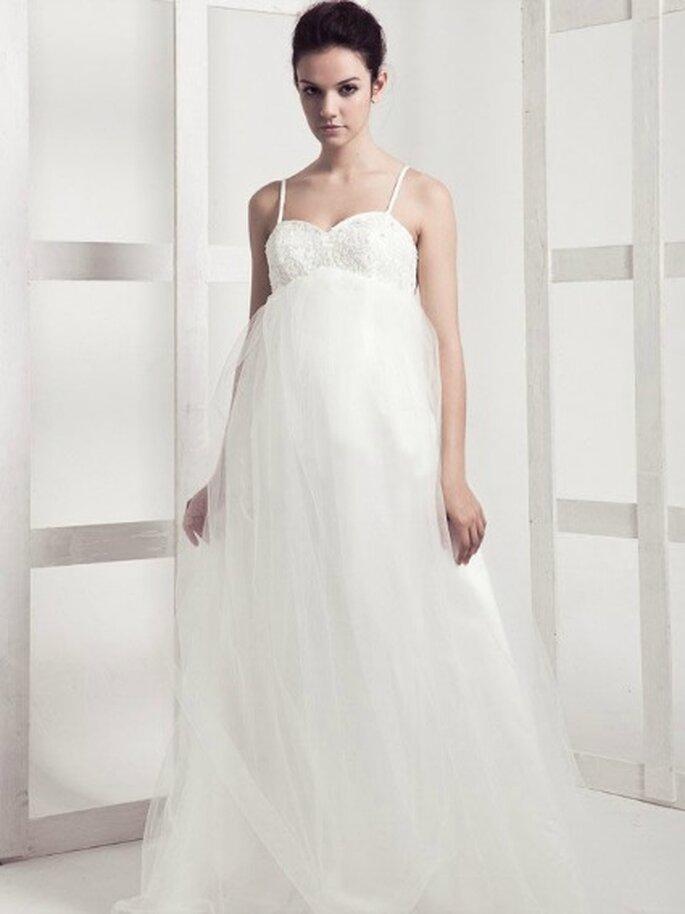 ... vestido de casamento para a mulher grávida - Fonte: Vestido de Noiva