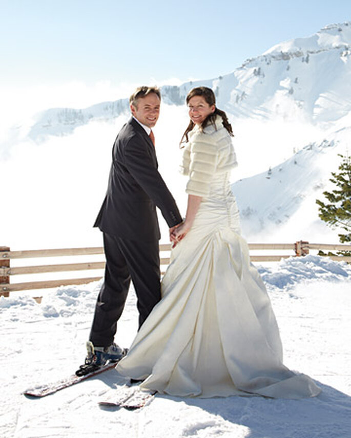 Si lo voglio... sulla neve! Foto: sposamania.it