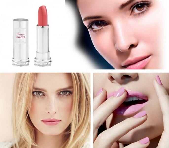 Maquillaje en color rosa pastel de moda en 2013 - Foto Facebook oficial de Lancome, Chanel y MAC Cosmetics