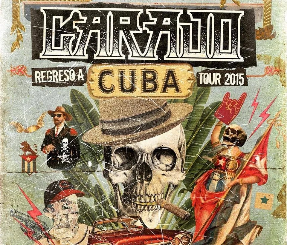 Carajo concert poster in Cuba. Photo: courtesy of the author.