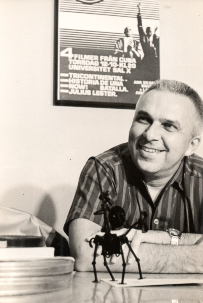 Santiago Álvarez in his office. Photo: Santiago Álvarez Office Archive
