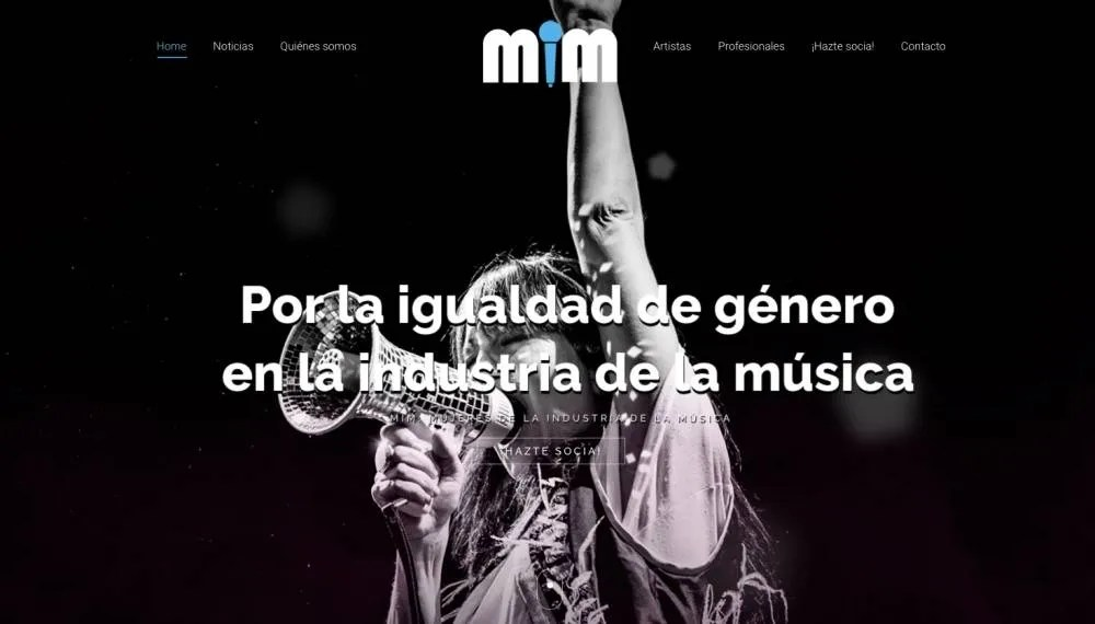 Captura de pantalla de la web de la Asociación.