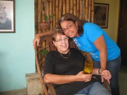 Lucía y Niurka. Foto: Cortesía Niurka Sánchez.