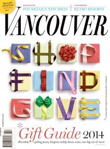 "Naomi MacDougall, Art DirectorJohn Burns, Editor: ""Gift Guide"", Vancouver Magazine"