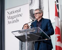 Hon. Adam Vaughan, MP, Spadina-Fort York, addresses the audience at the 2016 National Magazine Awards