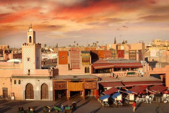 Vista su piazza Jamaa el-Fna