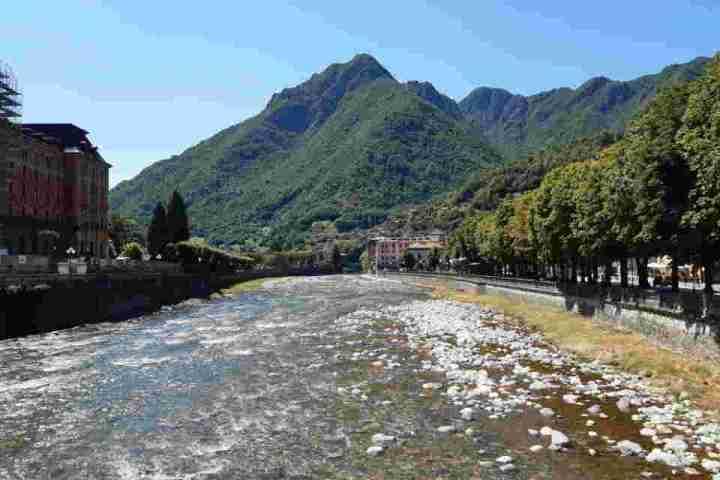 Vista su San Pellegrino, in provincia di Bergamo.