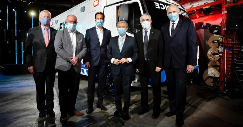 Cérémonie de présentation de l'ambulance électrique