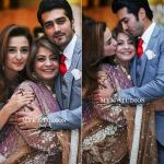Javed Sheikh his Wife , Son Shahzad and Daughter Momal at a Family Wedding (6)
