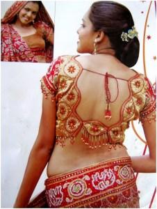 Silk Net Saree Blouse Designs 2018 for Weddings