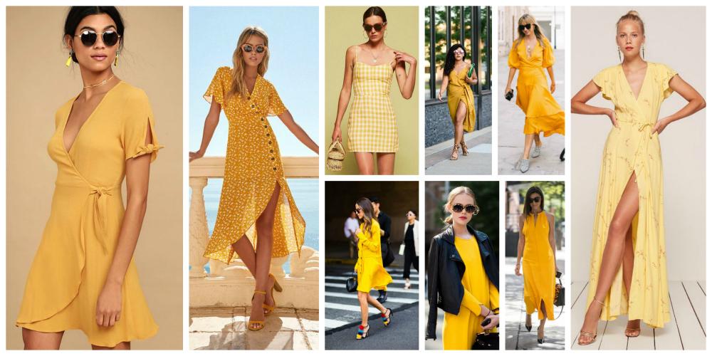 Yellow Colour Dresses Trend 2018 (1)