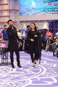 Jeeto Pakistan last night Mehwish Hayat with Fahad Mustafa