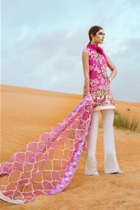 Saira Shakira First Look Crimson Luxury Lawn 2018