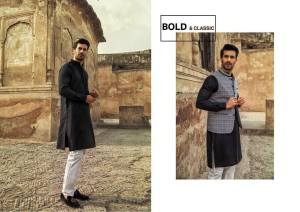 Urban Studio Men Dresses Eid Collection 2018 by Ismail (2)