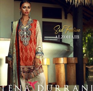 Festive Eid Lawn 2018 For Grabs By Tena Durrani (1)