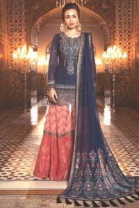 Maria B Embroidered Dresses Collection 2018 (4)