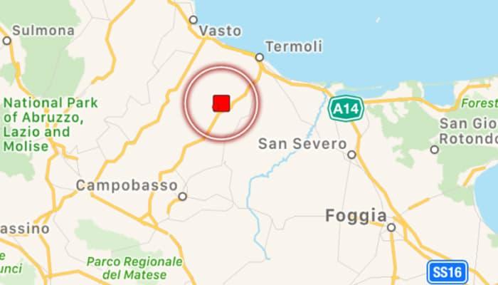 """Questa mattina, alle 11.48, scossa di terremoto in Molise. """"Diverso dalla sequenza del Centro Italia"""", spiegano gli esperti."""