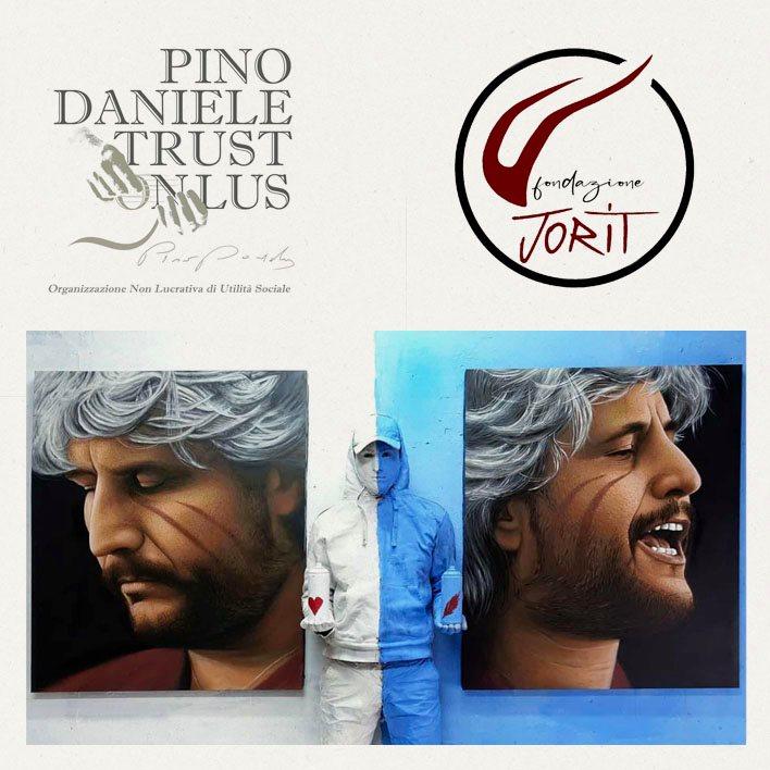 A Napoli Centrale un murale dedicato a Pino Daniele
