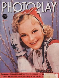 Photoplay March 1938 Sonja Henie