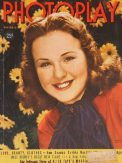 Photoplay November 1938 Deanna Durbin
