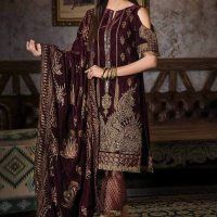 Gul Ahmed Winter Best Velvet Noor-e-Chasham Design 2019