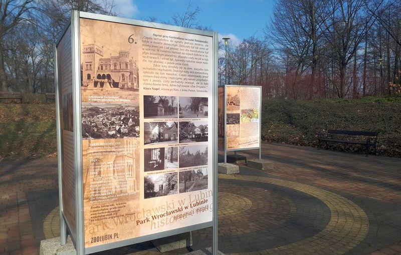 """""""Historia i magia – Park Wrocławski w Lubinie"""". Wystawa plenerowa"""