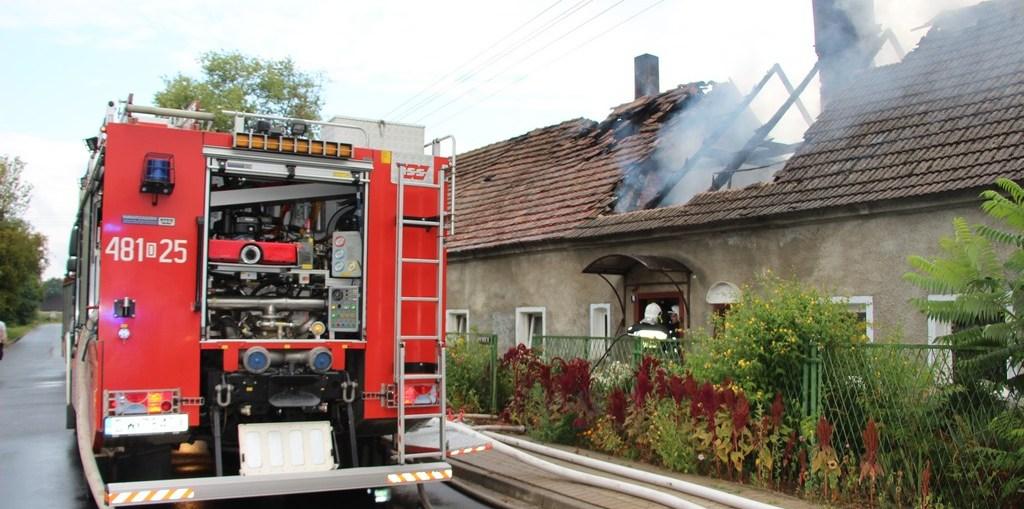 Pożar domu w Gorzycy