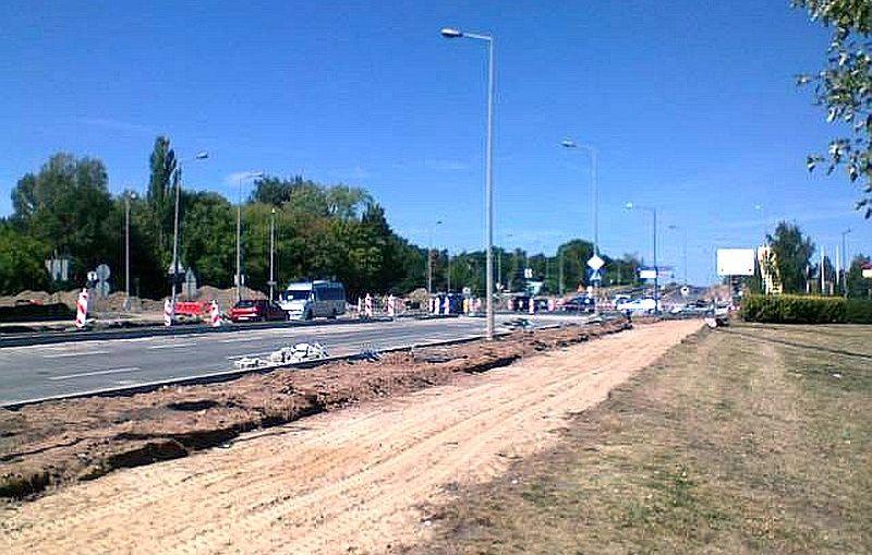 Trwa modernizacja głównej arterii Lubina