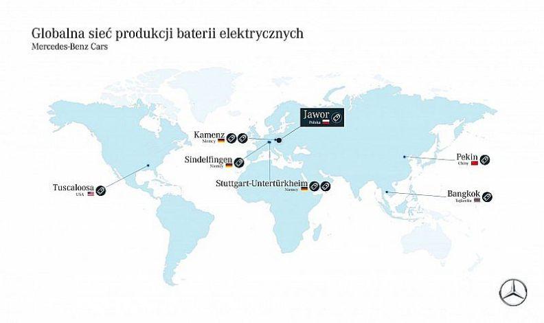 Mercedes uruchomi w Jaworze fabrykę baterii i 200 miejsc pracy