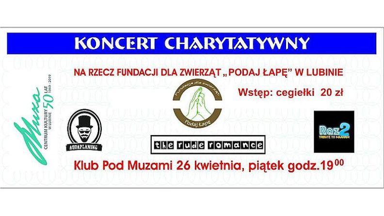 """Koncert charytatywny na rzecz Fundacji dla zwierząt """"Podaj Łapę"""""""