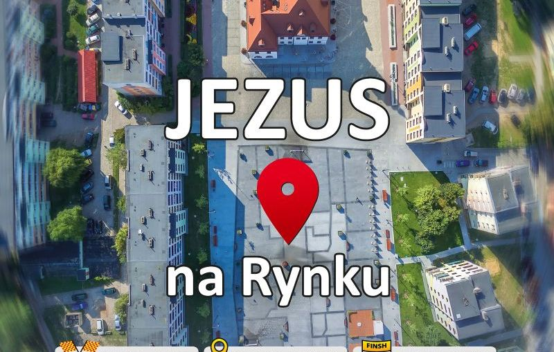 Jezus na Rynku w Boże Ciało.