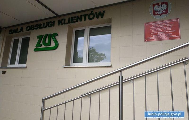 """Policjanci """"popracują"""" w lubińskim oddziale ZUS-u"""