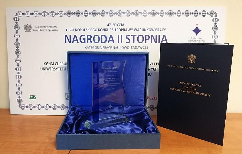 Nagroda za pracę badawczo-naukową dla KGHM CUPRUM
