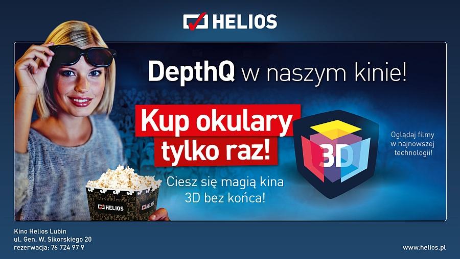 DepthQ – nowy system 3Dw kinie Helios Lubin!