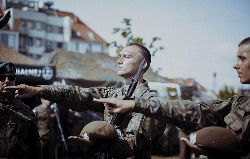 Pierwsza przysięga na sztandar 16 Dolnośląskiej Brygady Obrony Terytorialnej.