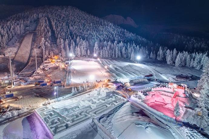 Zimowe atrakcje dla dzieci - Śnieżny Labirynt