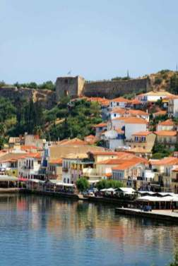 Koroni village in Greece with Venetian fortress