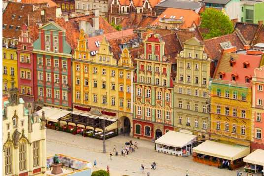 Old town square, Warsaw, Poland