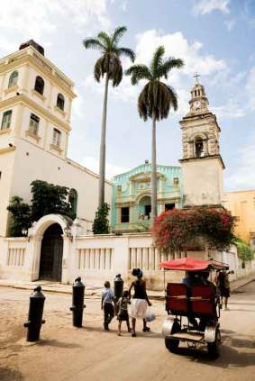 Jednym ze środków transportu w Hawanie są riksze