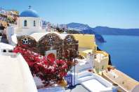 Architecture on Santorini island, Greece