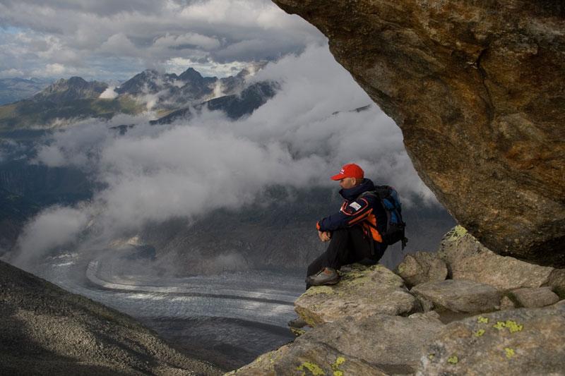 Aletsch, widok z grani Eggishornu, fot. Paweł Wroński