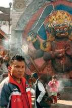 Posąg boga Bhairaw