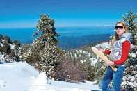 W górach Troodos panują dobre warunki narciarskie