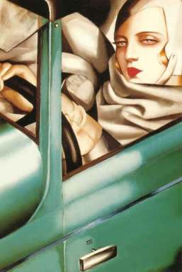 Tamara_de_Lempicka,_Autoportrait_(Tamara_in_a_Green_Bugatti)