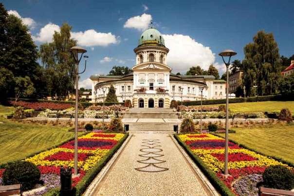Town Ladek Zdroj in Poland