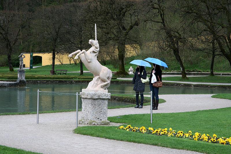 Ogrody pałacu Hellbrunn w Salzburgu, fot. Paweł Wroński