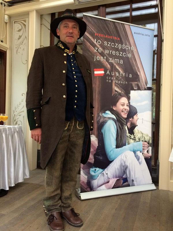 Elmar Ebner - kamerdyner klienta z ośrodka Turracher Höhe, fot. Paweł Wroński